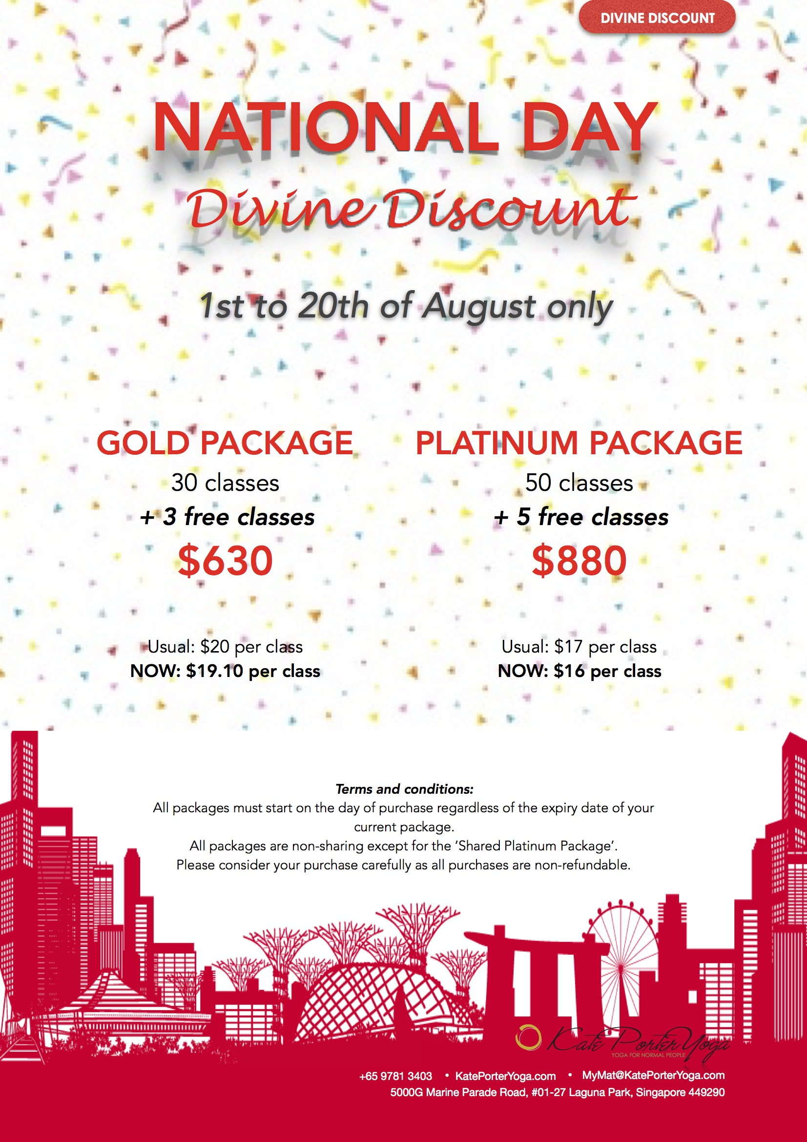 National Day Divine Discount 2017