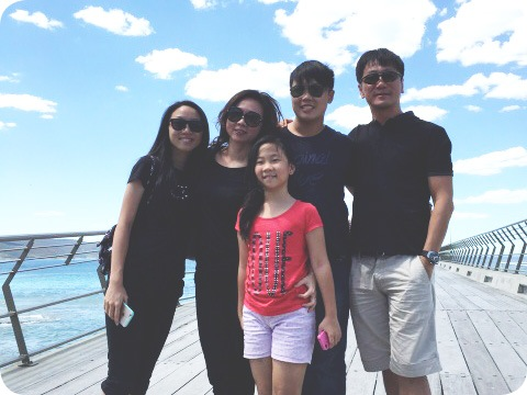 Pat Koh and family